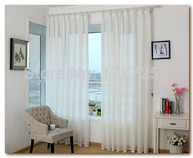 White linen modern rustic design jacquard organza tulle curtain fabric for window cortina(China (Mainland))