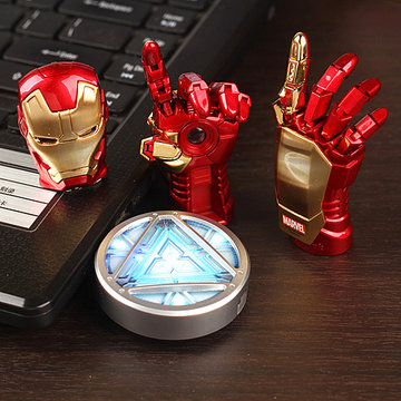 NEW Avengers Iron Man Hand LED Flash Drive 64GB USB 2.0 Memory Stick Flash Card 128GB 1TB 2TB Pendrive 512 GB Pen Drive Gift Key(China (Mainland))