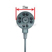 600TVL Mini CMOS Color IR Camera 1/4 cmos CCTV security Camera 3.6mm Flat cone pinhole Lens cmos camera 940nm IR 8pcs led