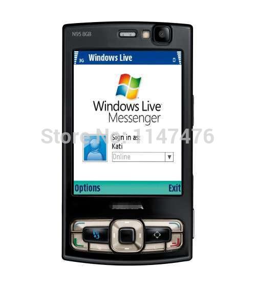Free shipping Original N95 8GB Mobile Phone 3G 5MP Wifi GPS 2.8''Screen GSM Unlocked Smartphone Russian keyboard Arabic Keyboard(China (Mainland))