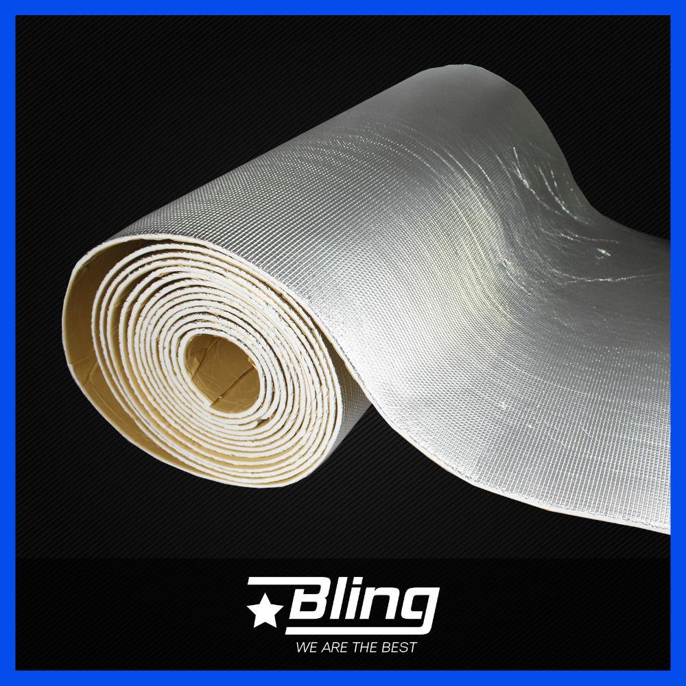 "25cmx100cm Car Vehicle Sound Deadening Insulation Proofing Cotton Mat Engine Hood Heat Insulation Deadening Material 10""x40""(China (Mainland))"