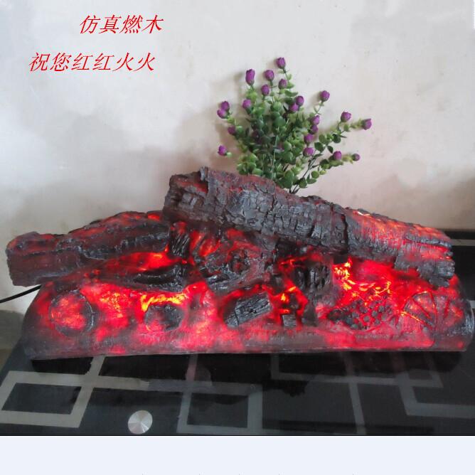 De madeira de alta artificial do carvão vegetal de resina de carvão vegetal carvão lareira decoração de(China (Mainland))