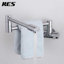Kes K920 laiton mitigeur Pot Filler robinet balançoire bec Wall mount, Poli Chrome(China (Mainland))