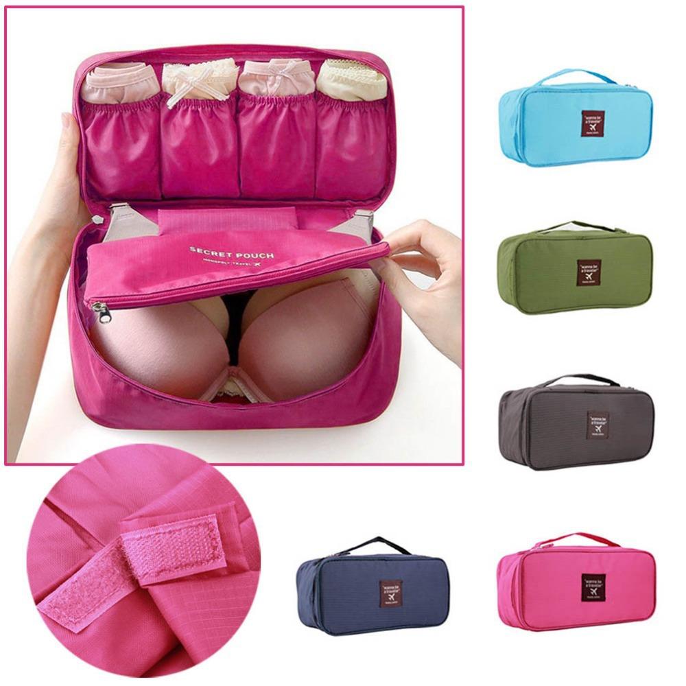 2015 Waterproof Women Girl Lady Portable Travel Bra Underwear Lingerie Organizer Bag Cosmetic Makeup Toiletry Wash Storage Case(China (Mainland))
