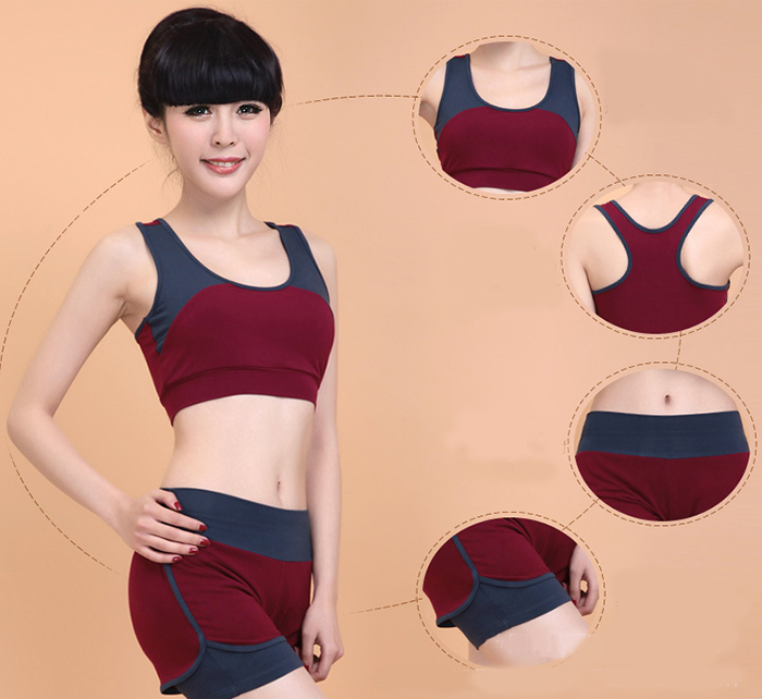 Yoga Outfits Modal Sports Clothes Set Leasure Clothes Dancing Clothes Girl Fitness Wears Yoga Sets(China (Mainland))