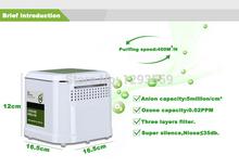 Бытовая мини воздуха ionier дезодорации и стерилизации очиститель воздуха с HEPA и фильтры с активированным углем