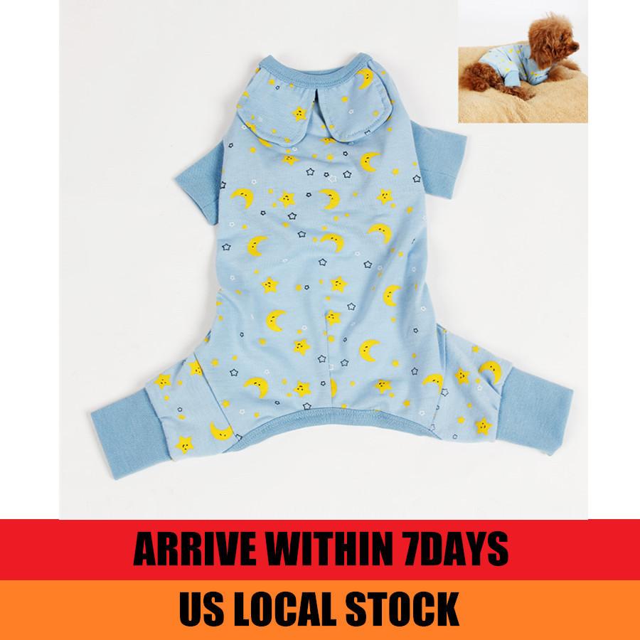 US Stock! Dog Clothes Jumpsuit Pet Product Clothing Puppy Shirt Cat Cozy Pajama Rose Blue(China (Mainland))
