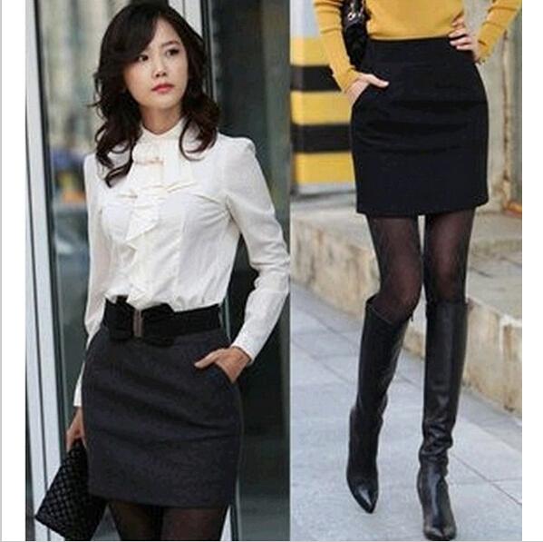 Business Attire Office Lady peplum Formal Skirts Pencil Cotton Skirt Plus Size 3XL Skirts/Saias Women/Woman/Female 2014(China (Mainland))