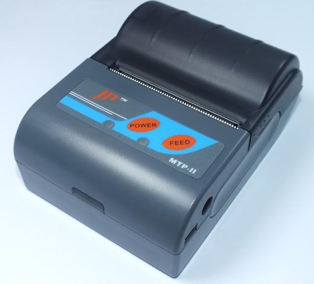 Mini portable Bluetooth thermal printer MTP-II barcode label pos receipt ticket printer printers machine wholesale 12 units/lot(China (Mainland))