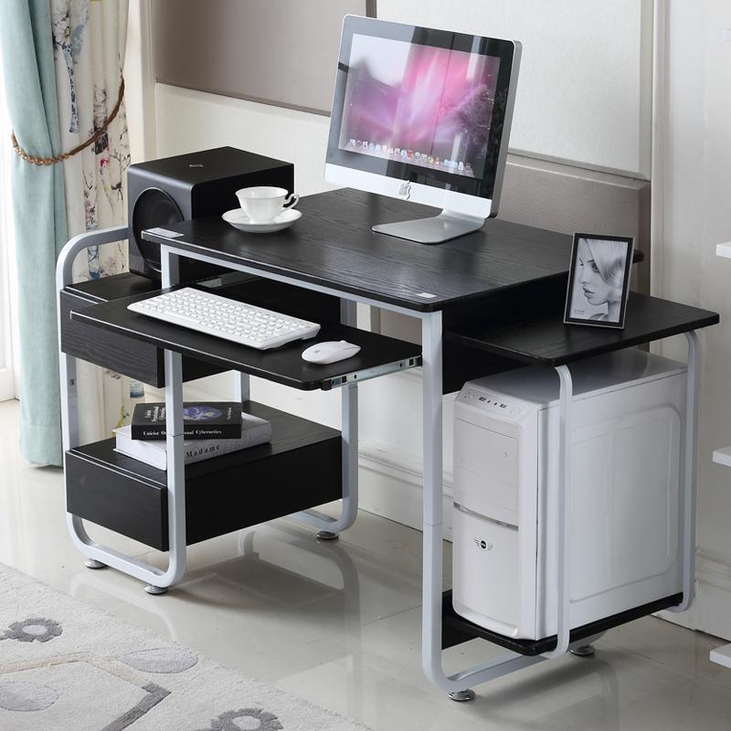 St. crown simple desktop computer desk office desk furniture minimalist wood desk with drawers new desk(China (Mainland))