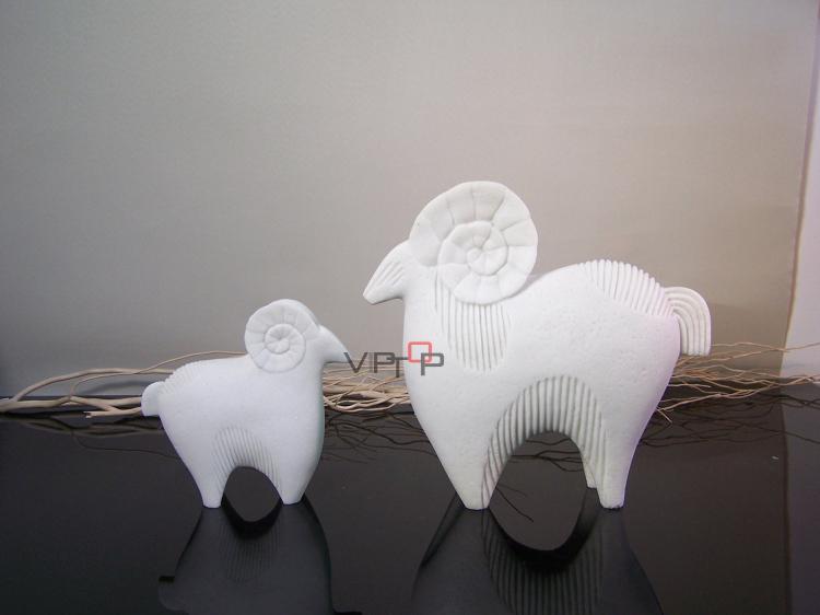 Hotel club design decorative sandstone goat pair sculpture interior design modern sheeps home decorations(China (Mainland))