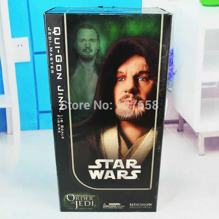 Sideshow Collectibles SIDESHOW STAR WARS Jedi Knights QUI-GON JINN new box in stock now(China (Mainland))