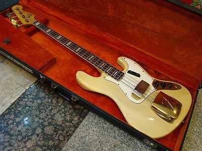1966 F Jazz Bass Mary Kaye Blond Original Finish Vintage Parts Aged Rare(China (Mainland))