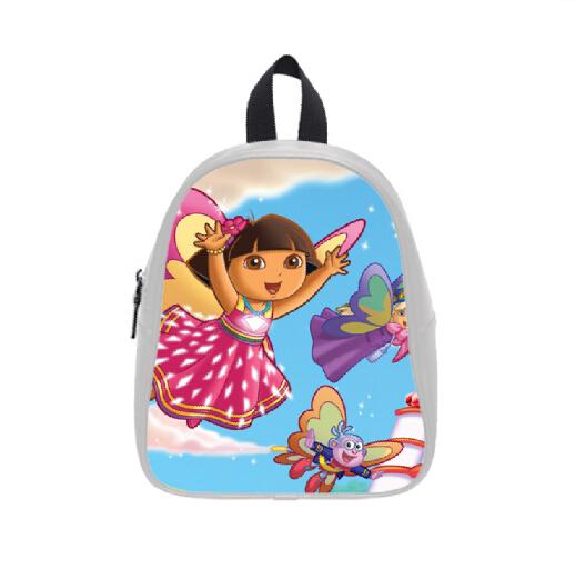 Grátis frete venda quente aquarela mochilas sob encomenda à moda Dora the Explorer saco de escola para meninos meninas PC-0356(China (Mainland))