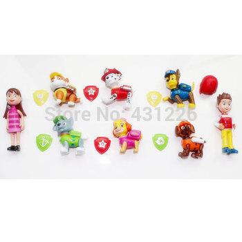 8pcs/set Paw Patrol Dog Toys Plastic Action Figure Anime Dog Puppy Patrol Toys Kids Toys