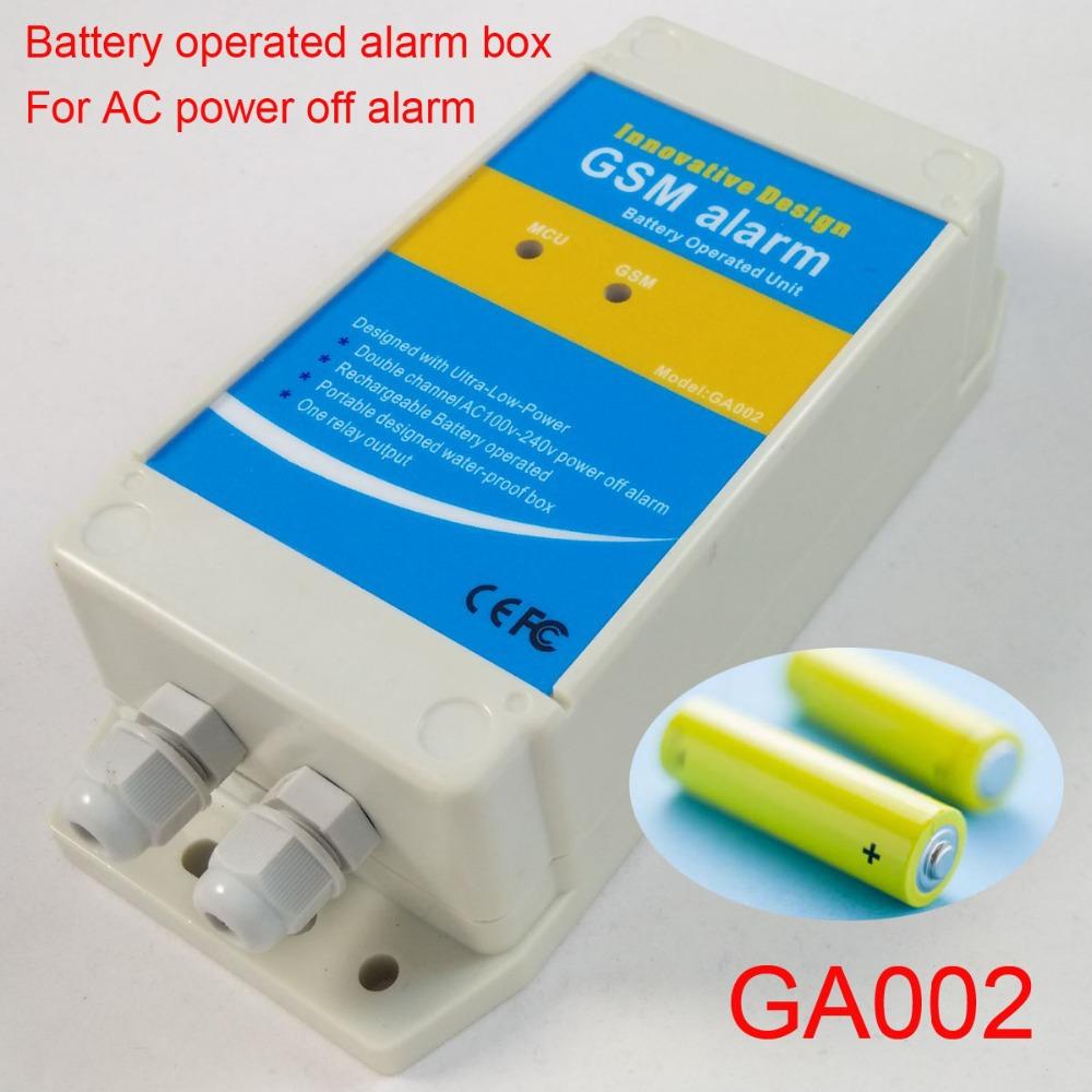 GSM Alarm box (Battery operated GSM alarm box) for AC110V power failure alarm(China (Mainland))