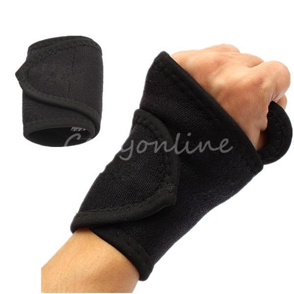 Neoprene Wrist Support Adjustable Elasticated Wrist Wrap Gym Thumb Wrist Support Wrap Brace Protector(China (Mainland))