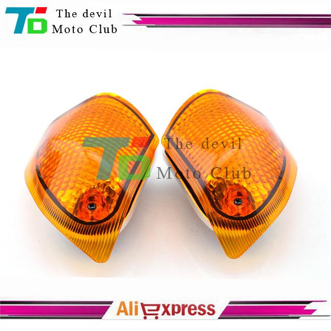 For KAWASAKI ZZR 400 600 ZX600E 1994-2004 Motorcycle Rear Turn signal Blinker Lens Amber(China (Mainland))