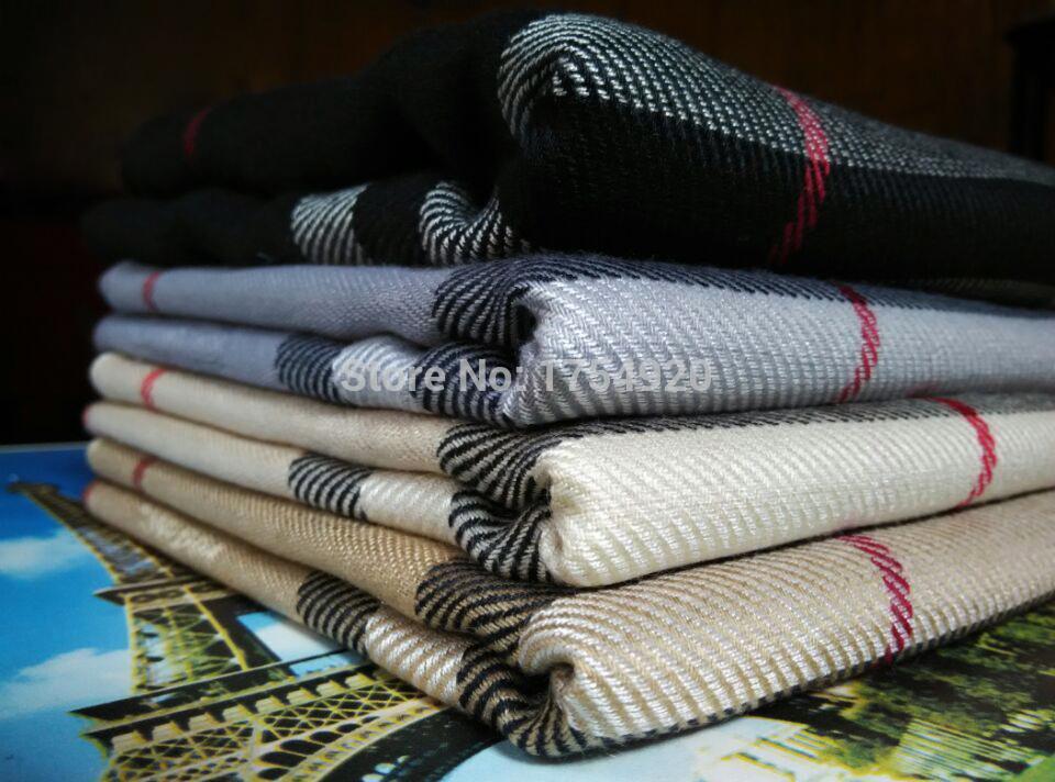 cashmere scarf Man and women's designer plaid scarf(China (Mainland))