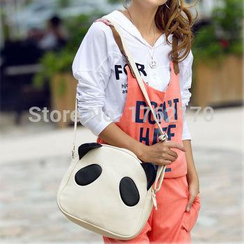 New 2015 Fashion Women Girl Student Cute Panda Bag Single Shoulder Crossbody bag Messager Tote(China (Mainland))
