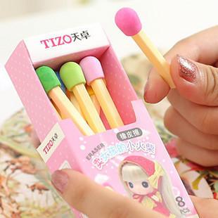 Match erasers Cartoon Very Eraser Sell Little Match Girl pencil eraser tops kawaii school supplies erasers(China (Mainland))