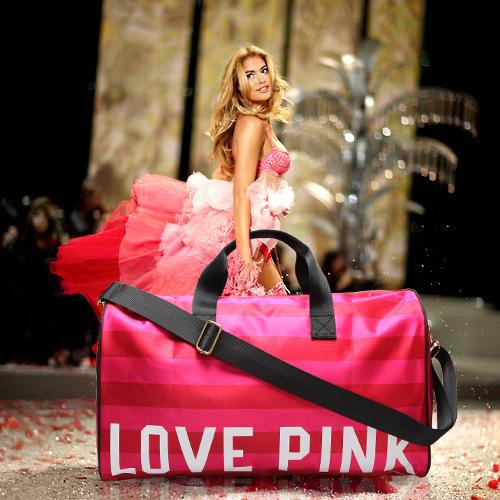 2015 Women's Brand Fringe Handbags VS Love Pink Large Capacity Travel Duffle Striped Waterproof Beach Bag Shoulder Bag Yoga Bag(China (Mainland))