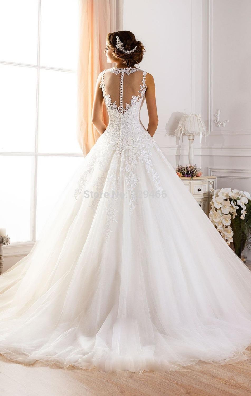 Ilusión escote vestidos de novia