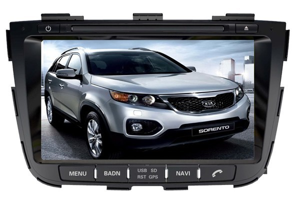 Andriod Car DVD Player for KIA SORENTO 2013- Media Player 3D Universal 2 Din with GPS free map(China (Mainland))