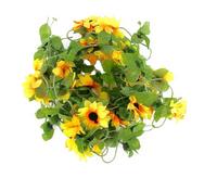 Artificial Sunflower Garland Silk Flower Vine for Valentine Home Wedding Garden Decoration AE02773
