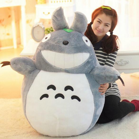 Hot Sale 60CM Famous Cartoon Large Totoro Plush Toys Smiling Soft Stuffed Toys High Quality Dolls Factory Price In Stock(China (Mainland))