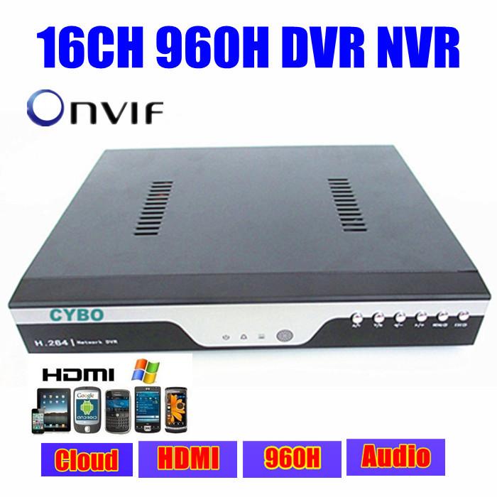 FULL D1 16ch 1080p 960H security hybrid DVR nvr HDMI 16 channel P2P Cloud 3G WIFI DVR ONVIF NVR cctv digital video Recorder(China (Mainland))