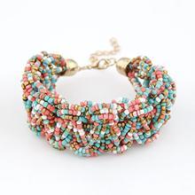 Fashion Brand Wholesale Jewelry bracelet Bohemia Style Retro Bead Multicolor Charm Vintage Love Cuff Women Bracelets & Bangles(China (Mainland))