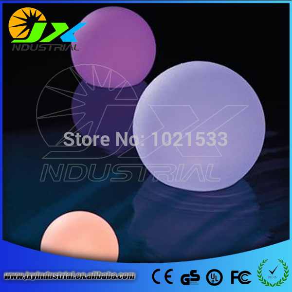 rechargeable 20cm floating ball RGB color led ball light lamp PE material plastic furniture remote, sphere ball led(China (Mainland))