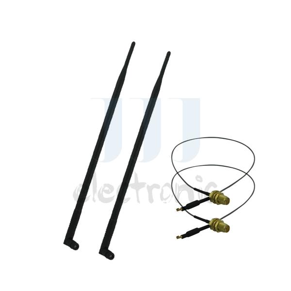 2 9dBi RP-SMA 2.4~5.8GHz WiFi Antennas + 2 U.fl cables for Mod Kit Linksys WRT310N WRT320N(China (Mainland))