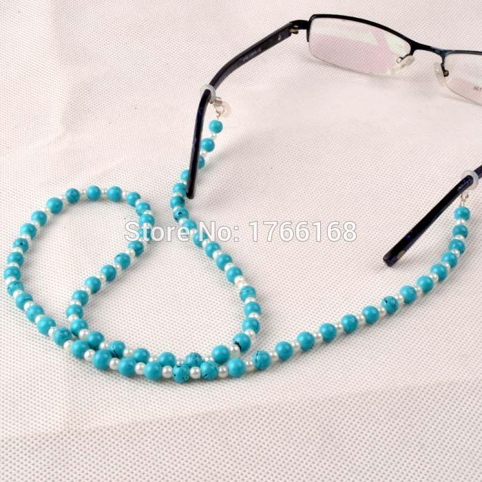 Blue Beaded Eyewear Cord Reading Glass Neck Strap Eyeglass Holder Red Cord Glasses Strap Eyewear Accessories