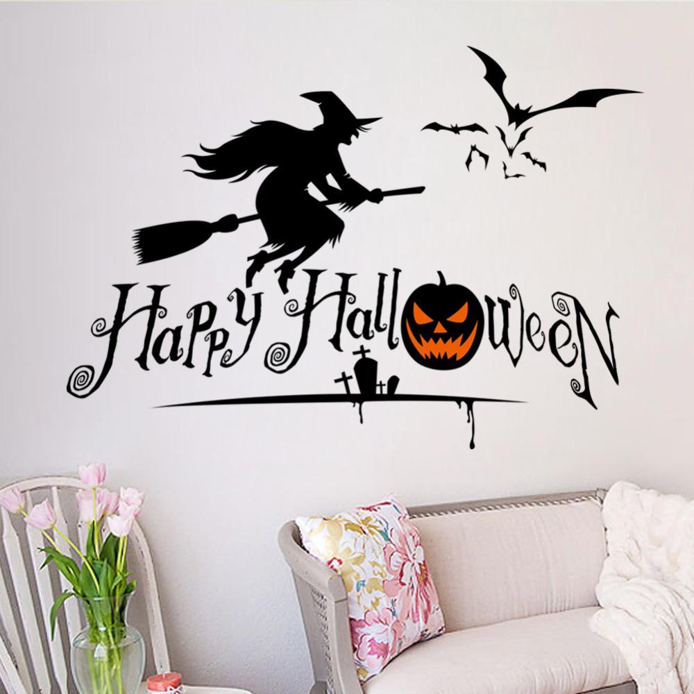Merry Halloween Pumpkin Skull Wall Stickers Home Decoration ZYHallowmas05C(China (Mainland))