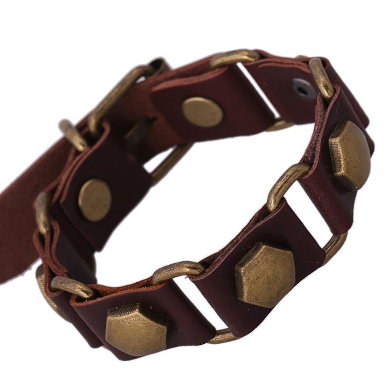 handcuff bracelet trendy 2015 new fashion punk chain leather metal present best friends bangles friendship jewelry bracelet(China (Mainland))