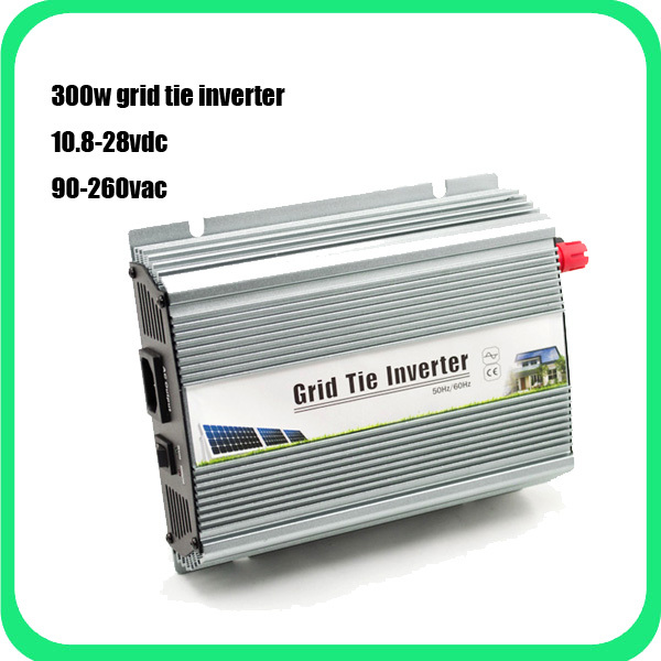 Freight Free--10.5-28Vdc 300W Solar Grid Tie Inverter Output 90-260Vac,Pure Sine Wave power inverter For Home Solar System(China (Mainland))