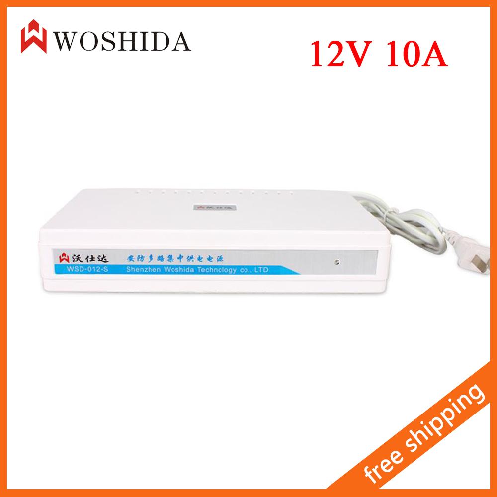 9 Channel 12V 10A CCTV Camera Centralized Power Supply AC 110-240V Woshida(China (Mainland))