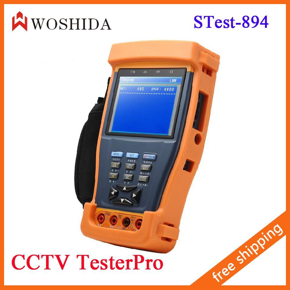 "3.5"" LCD Monitor CCTV Tester Camera Tester Multimeter Camera Video PTZ Audio UTP STest-894 Woshida(China (Mainland))"
