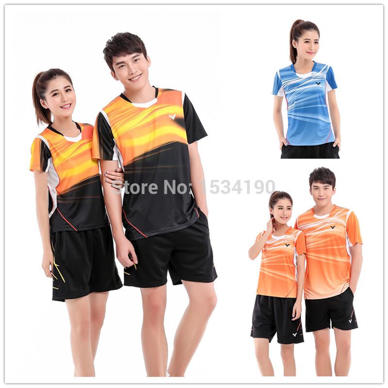 Korea Racing Suit Badminton Set ( Shirt + Shorts) T-5000 T-5100 Quick Dry Sport Tennis Set(China (Mainland))