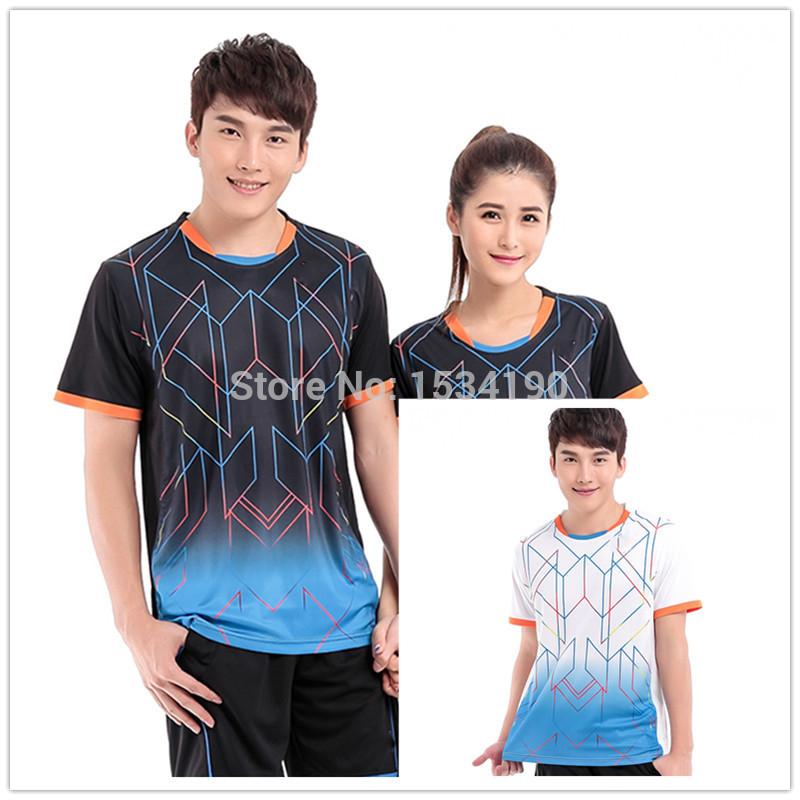 2015 New LinDan Badminton Shirts Men And women Model Badminton Tops ...