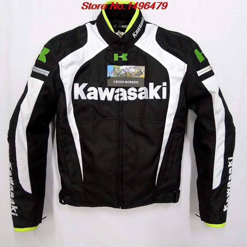 2014 - Kawasaki KAWASAKI- with removable cotton gall racing suits motorcycle clothing and protective gear free shipping(China (Mainland))