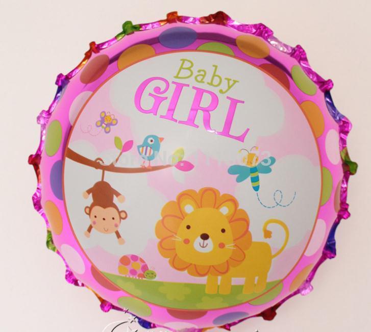 Atacado novo 10 pçs/lote do anjo do bebé balão de Mylar para recém-nascido bebê festa de aniversário decoração leão animais balões de hélio(China (Mainland))