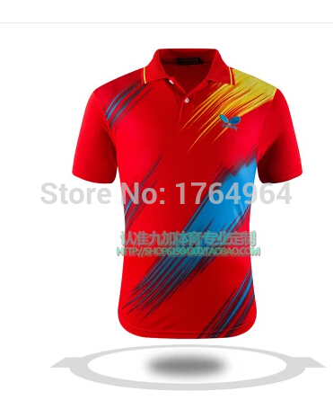2015 High Quality New Butterfly Table Tennis Suit Five Colors Men Table Tennis Jersey / shirt /Tennis Cloth for Man M-4XL(China (Mainland))