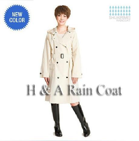Free Shipping High Quality Raincoat Women/Female Rain Suit Poncho Thin Waterproof Outdoor Raincoat Fashion Travel rain coat(China (Mainland))
