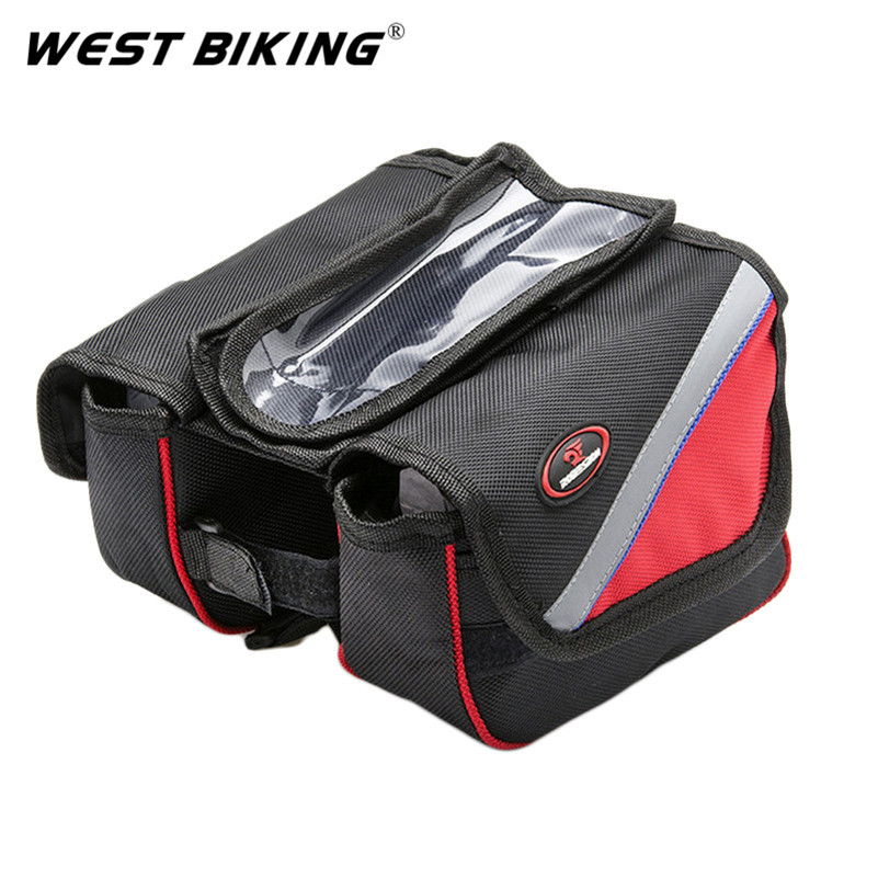 Bicycle Front Bag Waterproof Multifunction Bags Rack MTB Bike Front Bag Black Cycling Bicycle Accessories + Rain cover(China (Mainland))
