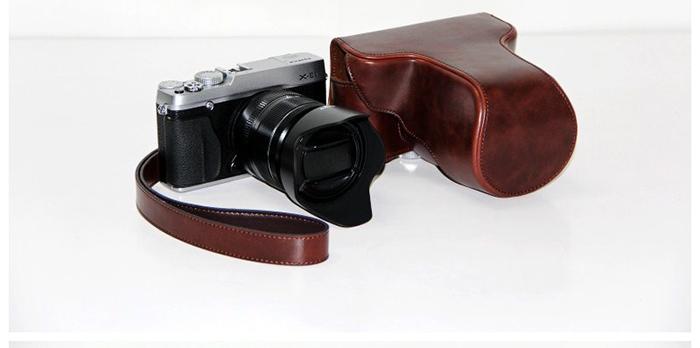 High Quality PU Leather Cover Digital Camera Bag Case For Fuji Fujifilm XE1 XE2 Holster Camera Freeshipping(China (Mainland))