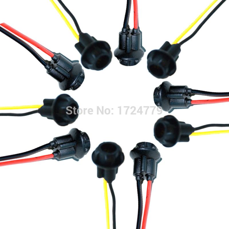 50PCS Car T10 194 LED Bulbs Holder Adapter Socket Harness Plugs #2897_YY(China (Mainland))
