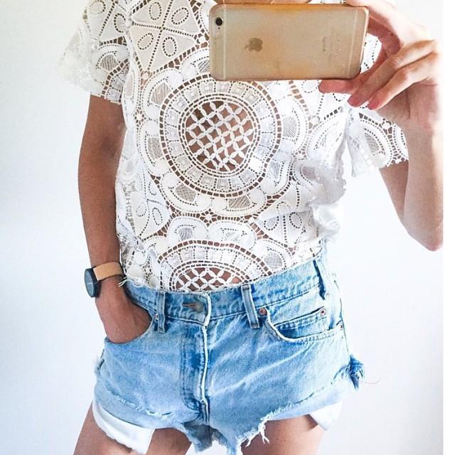 Женские блузки и Рубашки 2015 Desigual Blusa женские блузки и рубашки romantic beach blusa femininas2015 sh022
